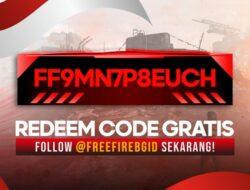 FF9MN7P8EUCH Kode Redeem FF 9 Agustus 2021 Asli Dari Garena